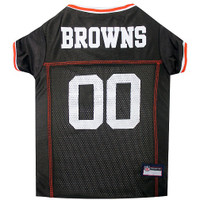 Cleveland Browns Dog Jersey - Red Trim
