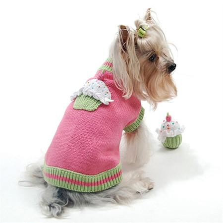 Oscar Newman Pet Sprinkles Cupcake Sweater & Toy
