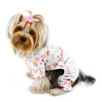 Cupcakes Fanatics Flannel Dog Pajamas