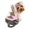 Pink Argyle Pattern Hoodie Dog Sweater
