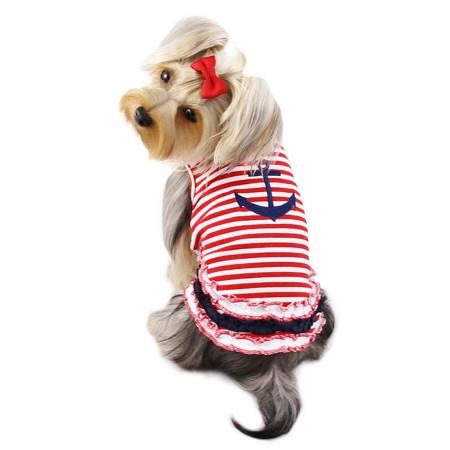 Stripy Sailor Shirt with Ruffles