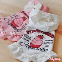 Wooflink Strawberry Cupcake Hoodie Dress