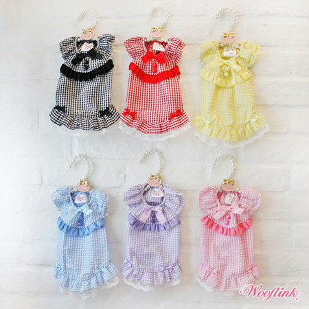 Wooflink Gingham Mini Dress
