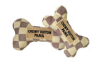 Chewy Vuiton Checker Bone Dog Toy
