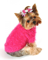 Mohair Blossom Dog Sweater