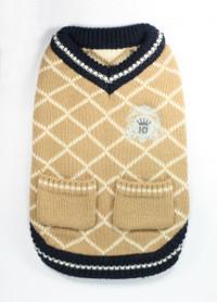 Royal Crest Tan Sweater Vest