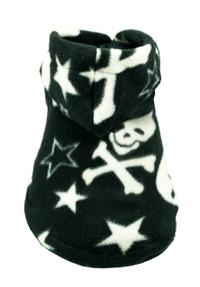 Black Skull Polar Fleece Hoodie
