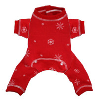 Red Snowflake Longjohns
