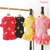 Wooflink Floral Embroidery Mini Dress