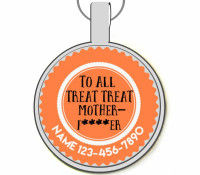 All Treat Treat Motherf***er Silver Pet ID Tags