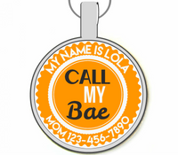 Call My Bae Silver Pet ID Tags