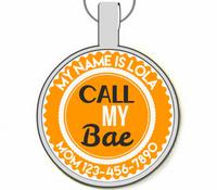 Call My Bae Silver Pet ID Tags