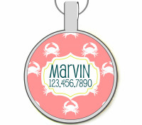 Crabby Taggy Silver Pet ID Tags
