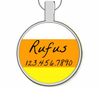 Halloween Candy Corn Silver Pet ID Tags