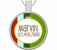 Holiday Ornament Silver Pet ID Tags