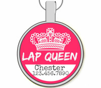 Lap Queen Silver Pet ID Tags