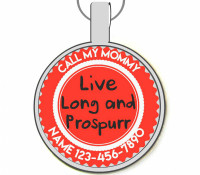 Live Long and Prospurr Silver Pet ID Tags