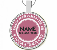Paws in the Air Silver Pet ID Tags