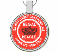 Regal Beagle Silver Pet ID Tags