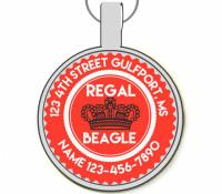 Regal Beagle Silver Pet ID Tags
