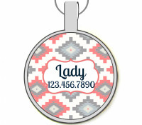 Santa Fe Silver Pet ID Tags
