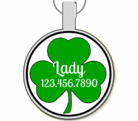 Shamrock Silver Pet ID Tags