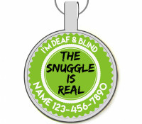 The Snuggle Is Real Silver Pet ID Tags