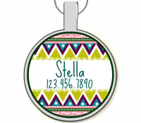 Tribal Boho Silver Pet ID Tags