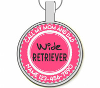 Wide Retriever Silver Pet ID Tags