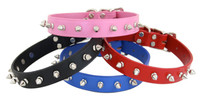 Classic 1-Row Spiked Leather Collars
