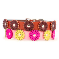 Flower Leather Collars