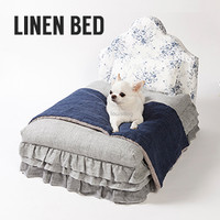 Louisdog Linen Bed