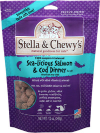 Stella & Chewy's Sea-licious Salmon & Cod Freeze Dried Cat Food