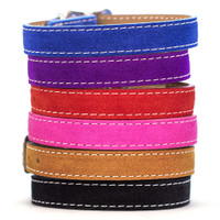 Saratoga Suede Collection Leather Collars