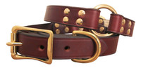 Center Ring Leather Collar