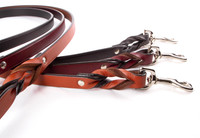 Braided Leather Leashes