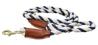Cotton Rope Leash with Leather Accents