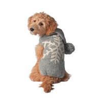 Gray Alpaca Snowflake Sweater