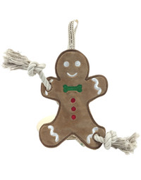 Gingerbread Man Stuffless Rope Toy