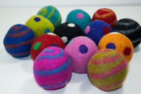 Assorted Felt Pet Balls - 6 Pack
