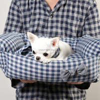 Louisdog Blue Egyptian Cotton Boom Bed