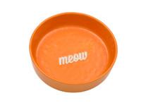 Etched Orange Meow Bowl