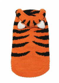 Chenille Tiger Sweater Hoodie