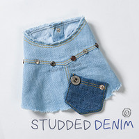 Louisdog Studded Denim Vest