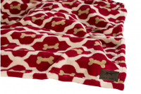 Red Bone Fleece Blanket