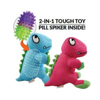 Dino Pill Spiker 2-in-1 Dog Toy