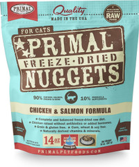 Primal Freeze-Dried Feline Chicken & Salmon Formula Food