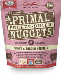 Primal Freeze-Dried Canine Turkey & Sardine Formula Food
