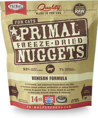 Primal Freeze-Dried Feline Venison Formula Food