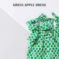 Louisdog Green Apple Dress